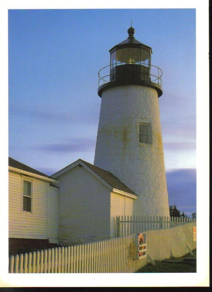 Pemaquid Point Lighthouse Maine Postcard