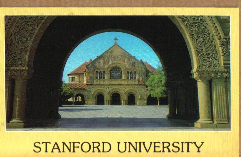 Stanford Memorial Church, Stanford University California Postcard