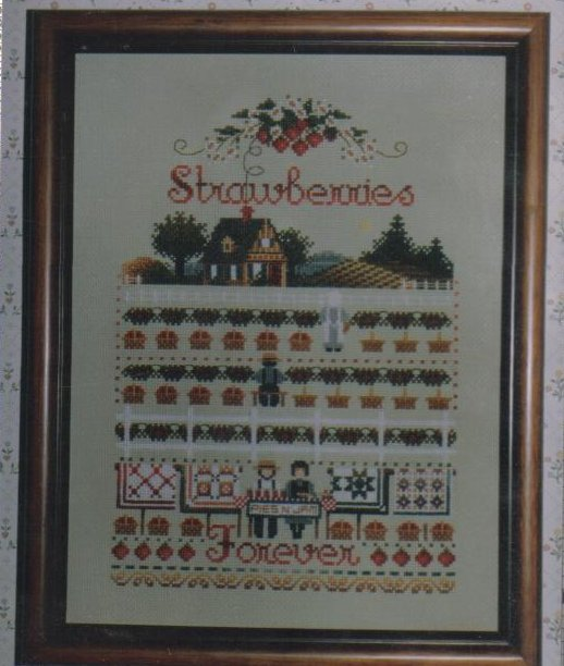 Image 0 of Strawberries Needlepoint Pattern New Crafts 8 X 11 inches