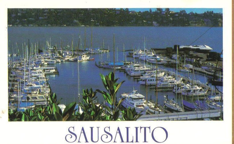 Image 0 of Sausalito Marina, California Coast Postcard