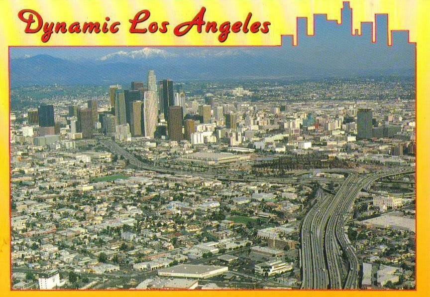 Dynamic Los Angeles, California Postcard