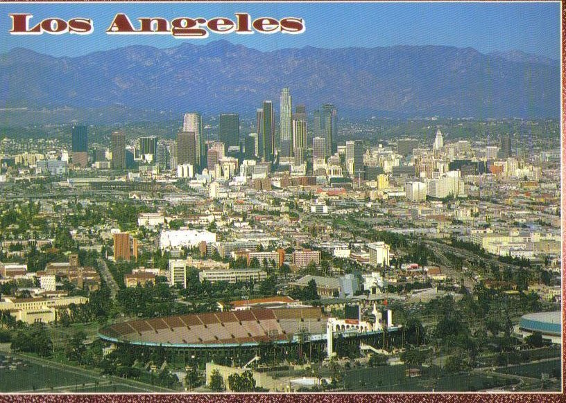 Los Angeles, California Postcard Colosseum and Civic Center