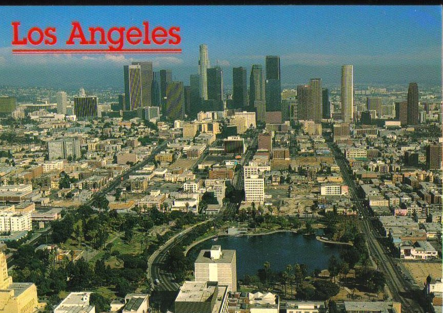 Los Angeles Skyline, California - Postcard