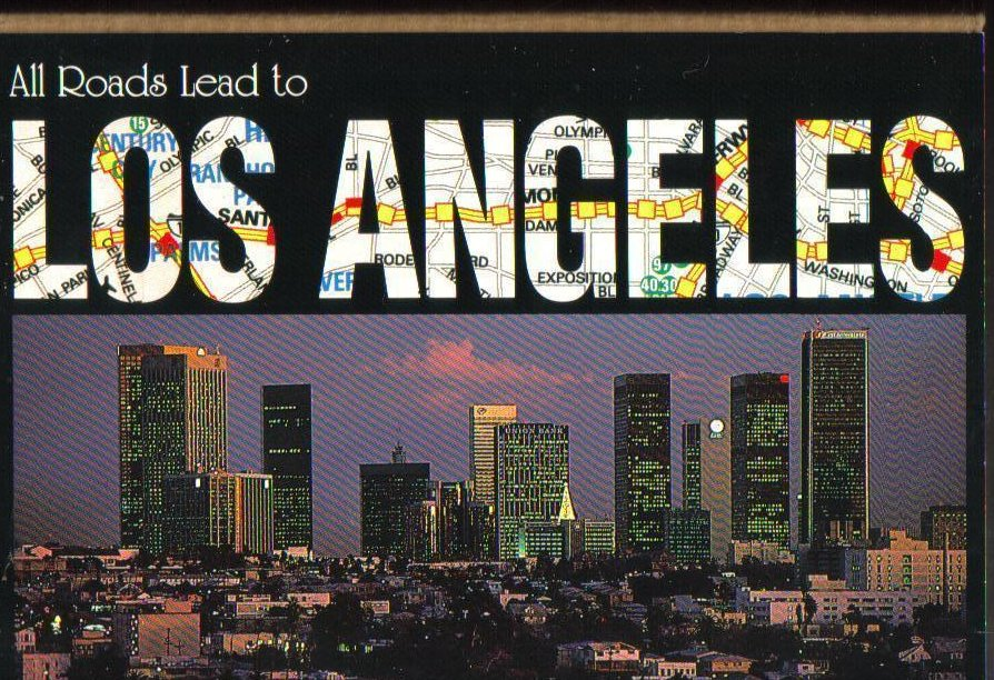 All Roads Lead to Los Angeles, California Postcard