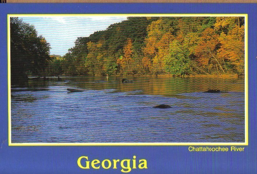 Chattahoochee River, Georgia Postcard