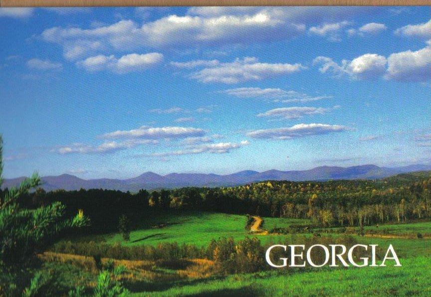 Georgia Landscape Postcard