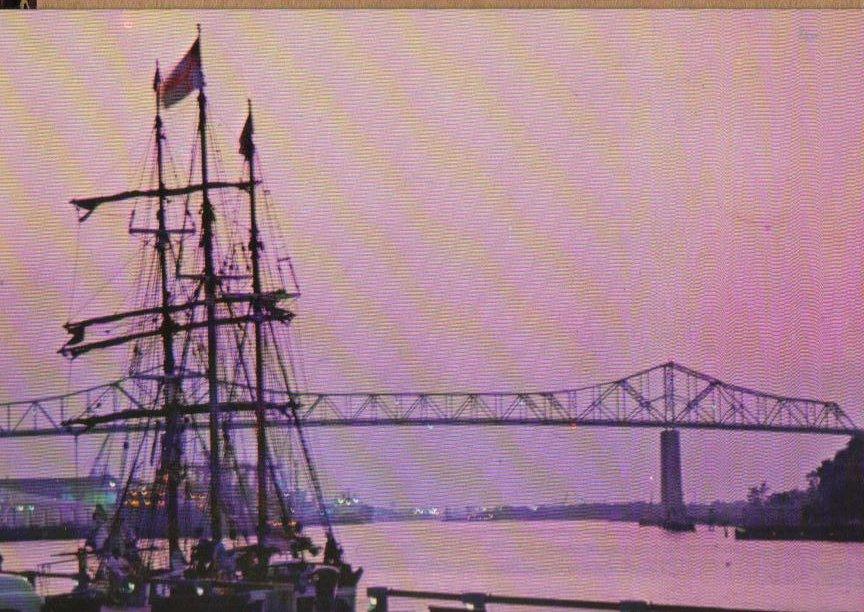 Savannah's Waterfront - Georgia Postcard
