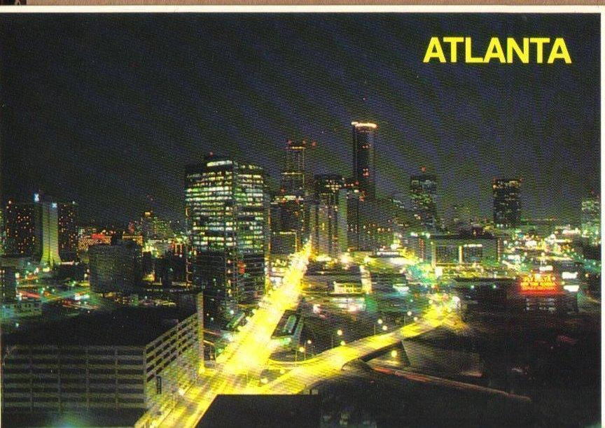 Atlanta, Georgia at dusk Postcard