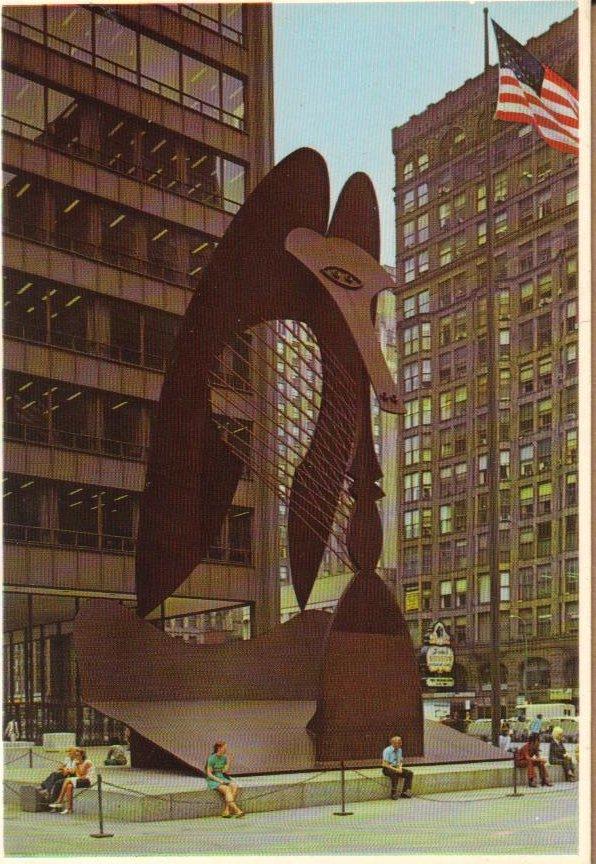 Chicago's Picasso Chicago, Illinois Postcard