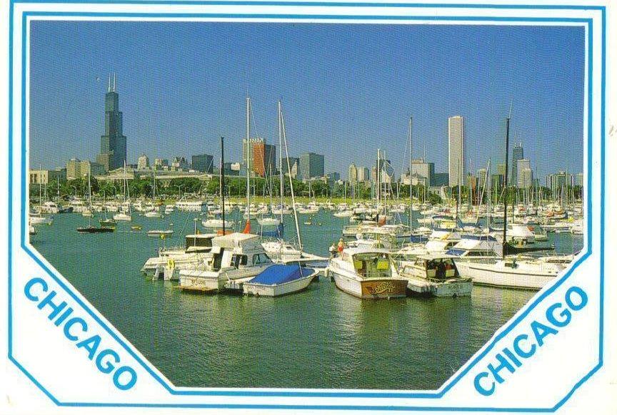 Marinas on Lake Michigan Chicago, Illinois Postcard