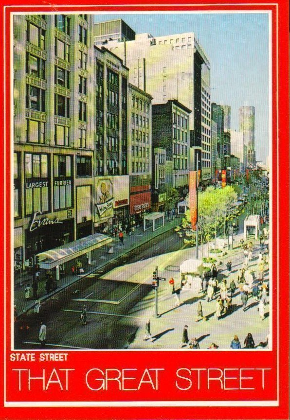 State Street Chicago, Illinois Vintage Postcard