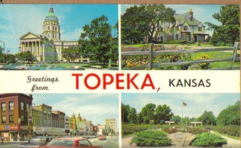 Greetings From Topeka, Kansas Old Vintage Postcard