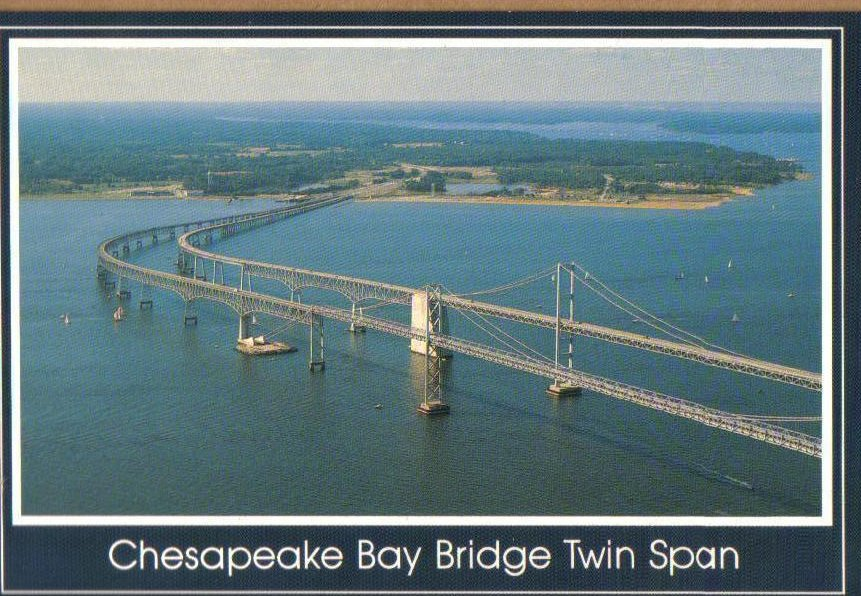 Chesapeake Bay Bridge Twin Span Rt 50 301 Maryland