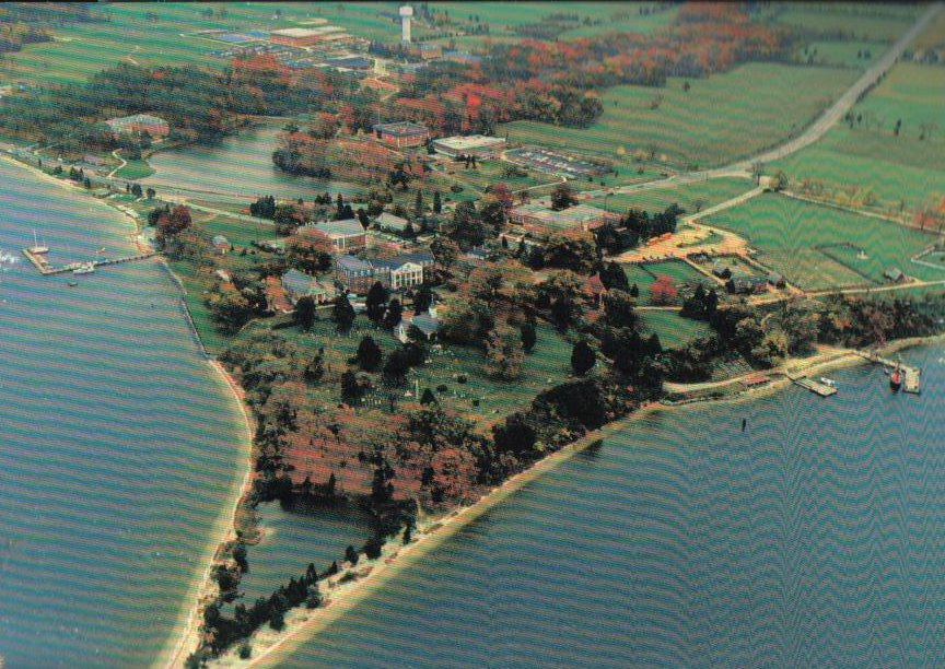 Aerial View St. Mary's City, Maryland Postcard MD Birthpace