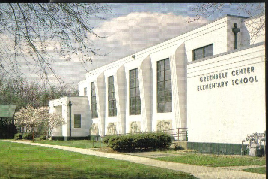 Greenbelt Center School, Maryland Postcard
