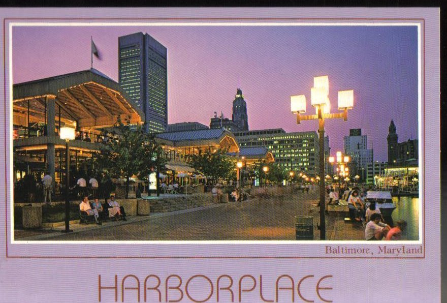 Harbor Place, Baltimore, Maryland Postcard