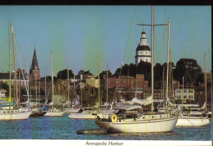 Image 0 of Annapolis Harbor Maryland Postcard OOS