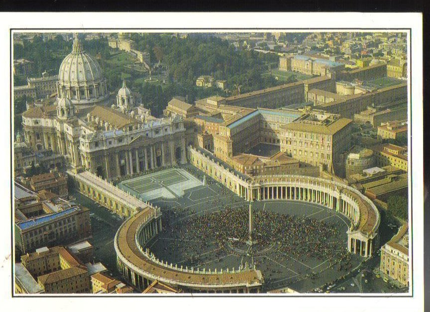 St. Peters Square - Rome, Italy Postcard
