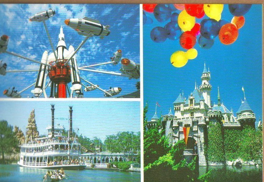 Disneyland The Happiest Place on Earth Postcard