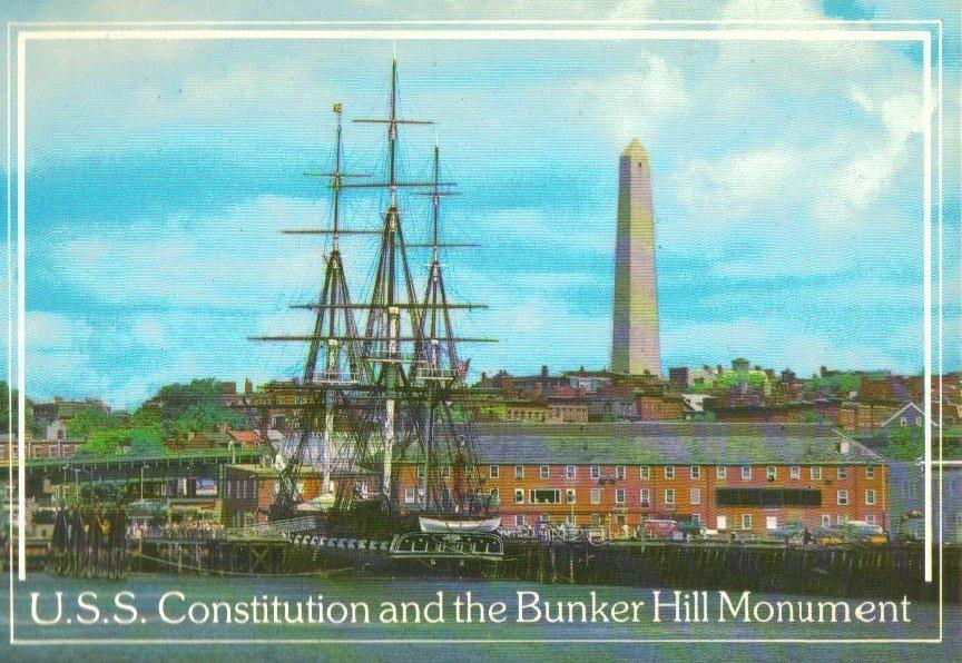 Boston, Massachusetts Postcard Old Ironsides