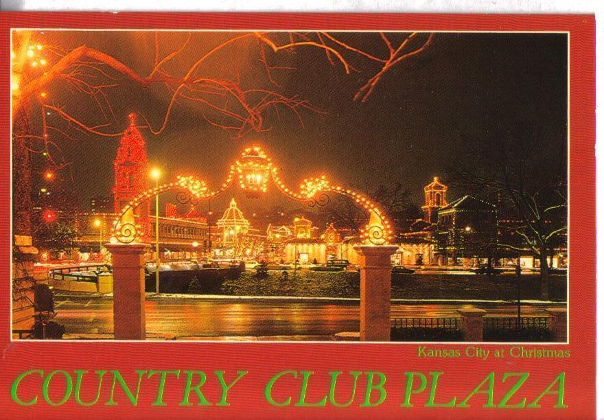 Country Club Plaza Christmas in Kansas City Missouri Postcard Red Frame