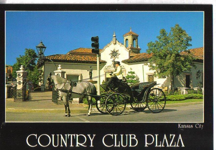Country Club Plaza, Kansas City, Missouri Postcard Carriage Ride