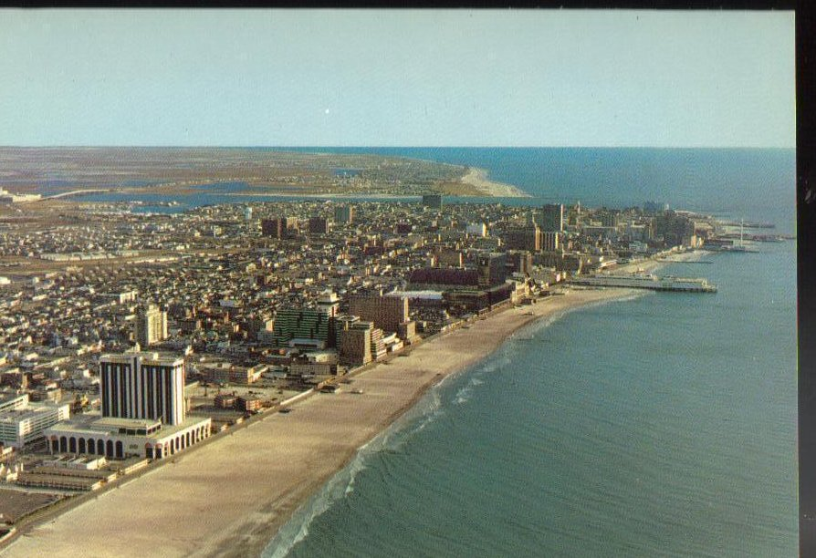 Aerial View- Atlantic City, New Jersey Vintage Postcard