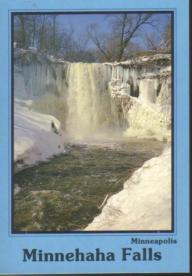 Minnehaha Falls Minneapolis Minnesota Postcard