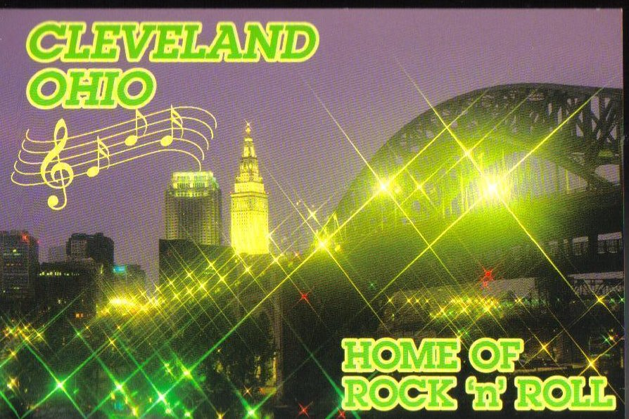 Home of Rock and Roll Cleveland Ohio Post Card