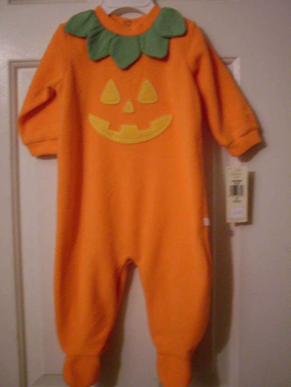 Osh Kosh Pumpkin Coverall Sleeper Costume 3-6 MO