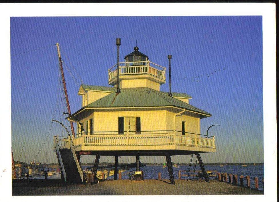 Hooper Strait Lighthouse Maryland Postcard