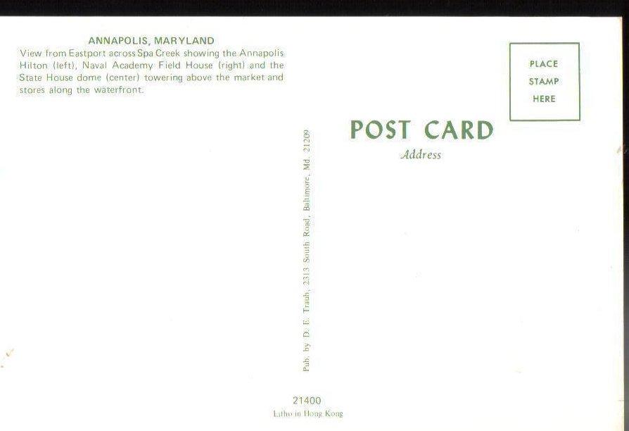 Image 1 of Annapolis, Maryland Postcard