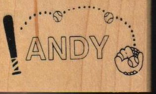 Andy Rubber Stamp Wood Mounted Name