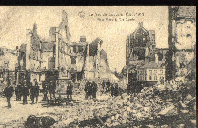 Louvain Brussels Belgium Antique Postcard 1914