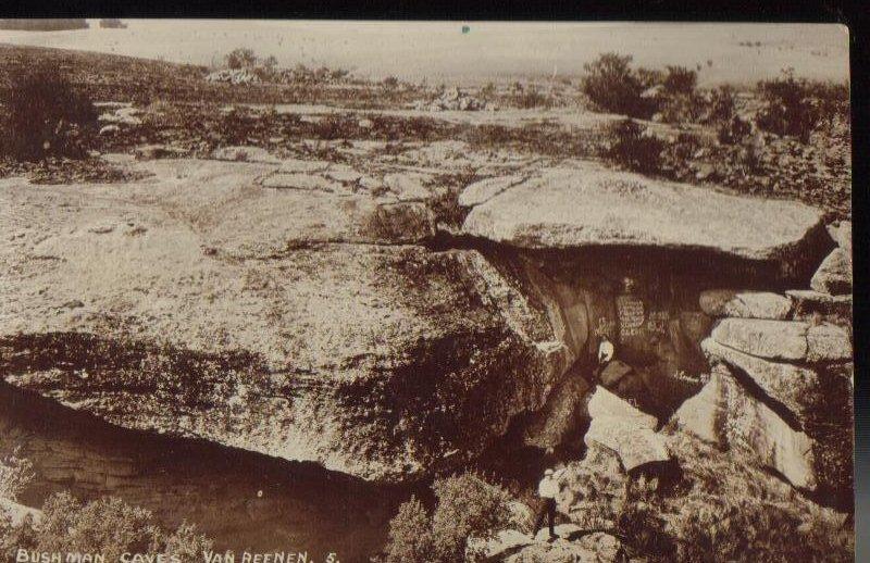 Bushman Caves Van Reenen S Africa Antique Postcard 1913