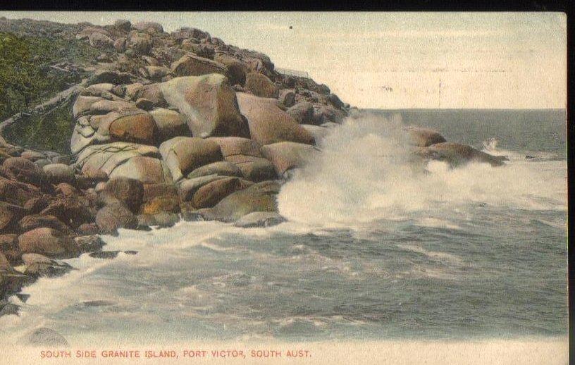 Granite Island Port Victor South Australia Vintage Postcard