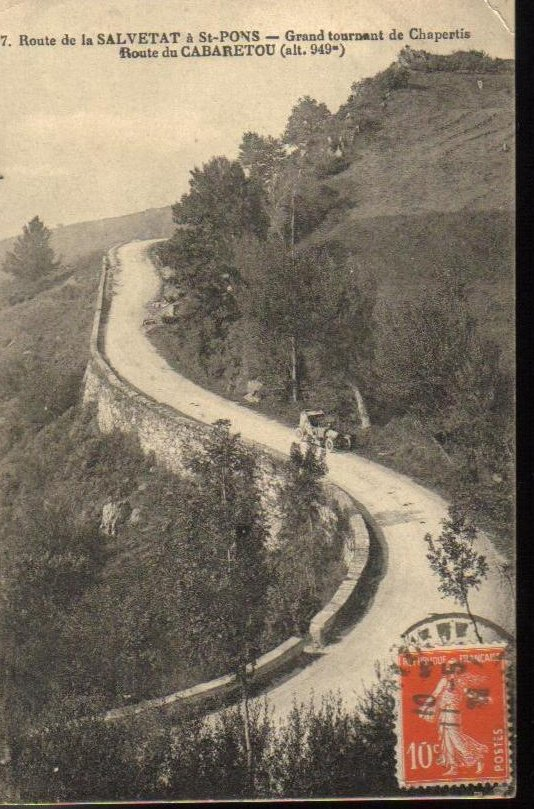 La Salvetat Herault, France Antique Postcard 1921
