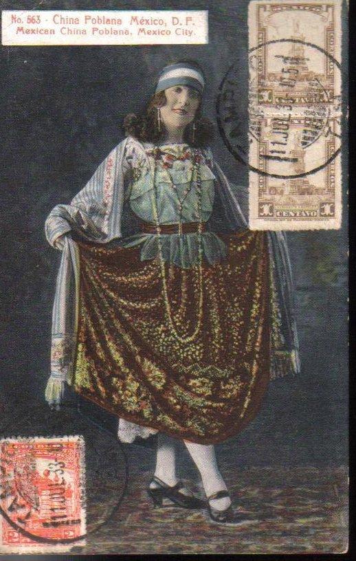 Mexican Dancer Tampico Mexico Antique Postcard 1933