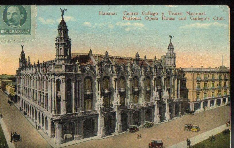 National Opera House Havana Cuba Antique Postcard 1923