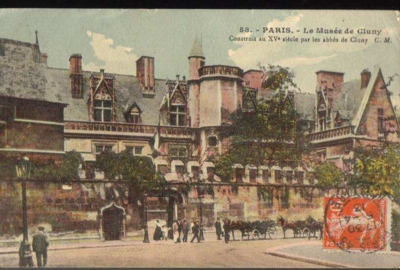 National Museum of the Middle Ages Paris France Antique Postcard 1913