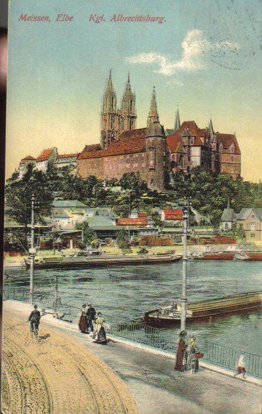Albrechtsburg Castle Meissen Germany Antique Postcard 1914