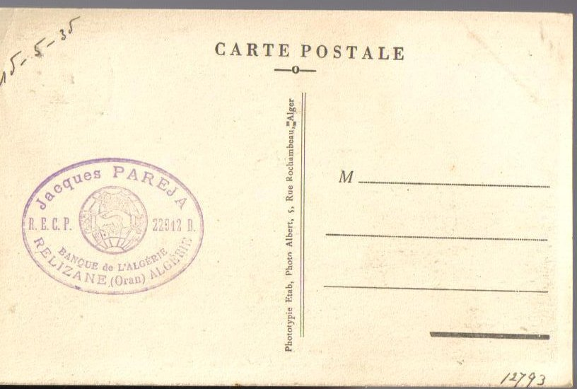 Image 1 of Moorish Bath Relizane Algiers N Africa Antique Postcard 1935