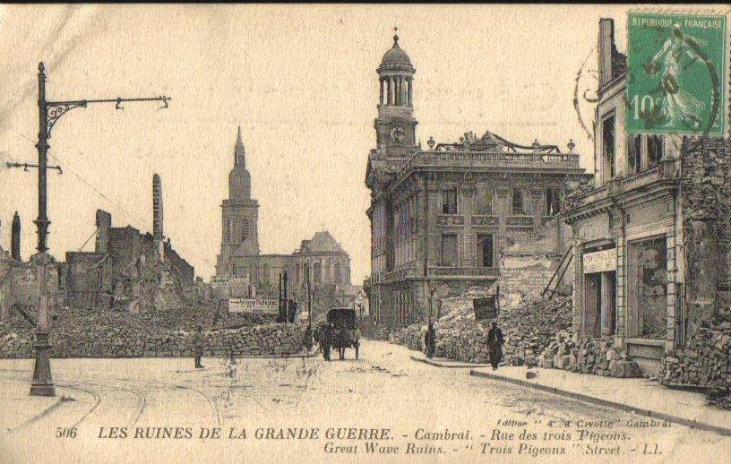 Les Ruines De Ka Grande Guerre,France Antique PC 1918