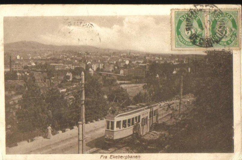 Fra Ekebergbanen near Oslo Norway Antique Postcard 1920