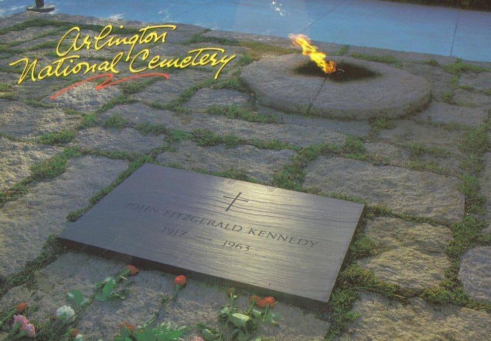 Arlington National Cemetary JFK Grave Virginia Postcard
