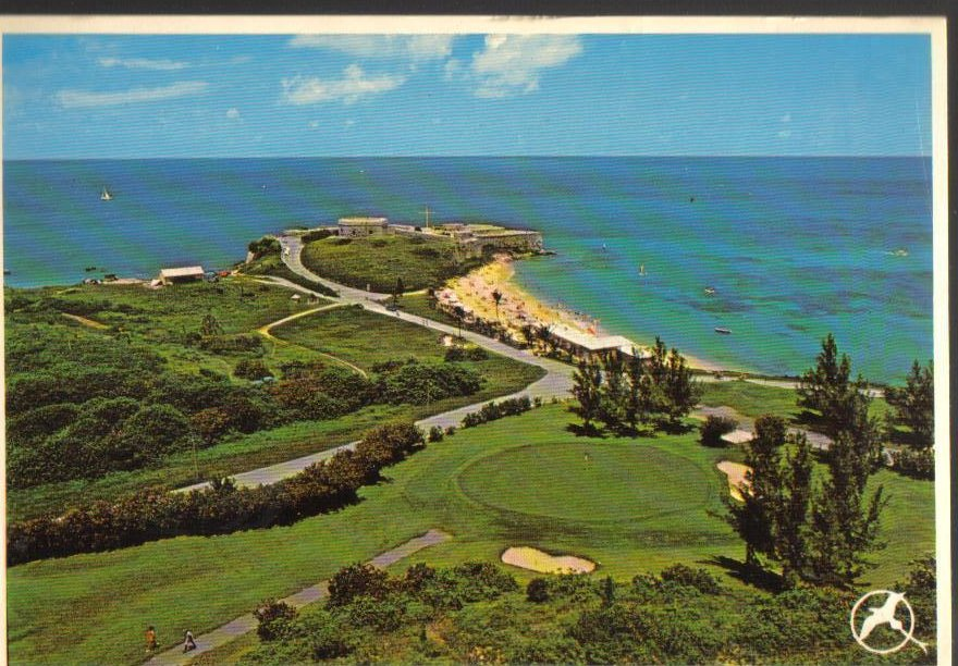 Bermuda St Catherines Point Vintage Postcard