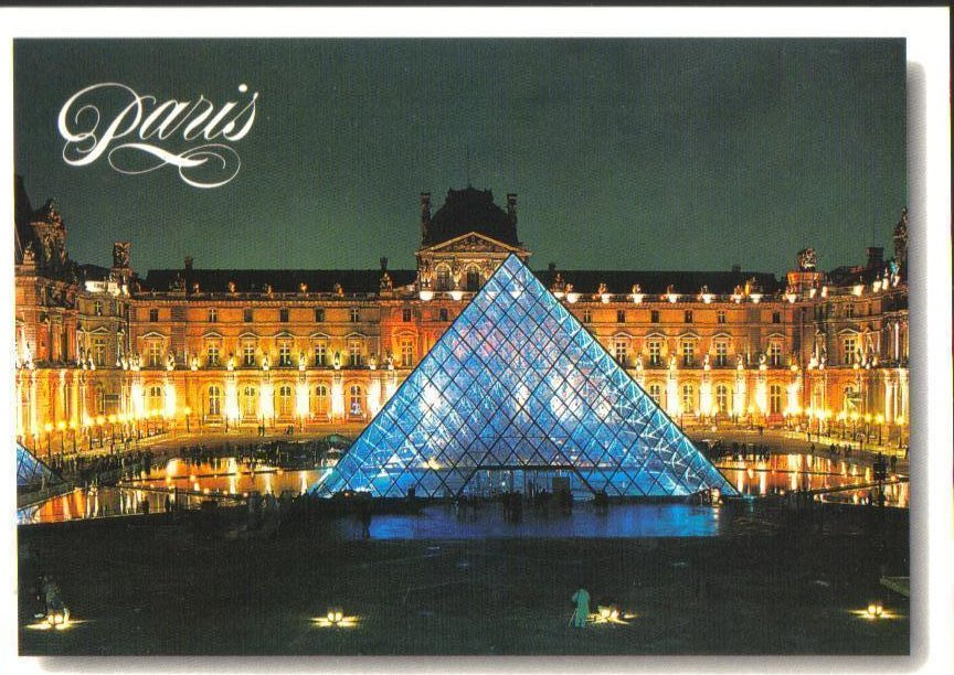 Pyramid at the Louvre Museum in Paris, France Postcard
