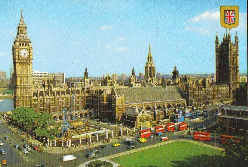 Parliament Square, London, United Kingdom Postcard