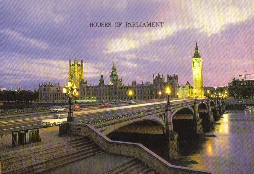 Houses of Parliament, London, United Kingdom Postcard