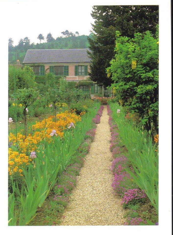 Monets Gardens Series Mauve Aubrietta Postcard